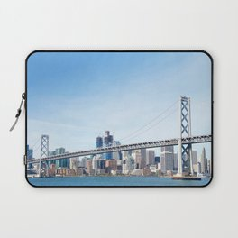 Bay Bridge view with San Francisco in the Background Laptop Sleeve