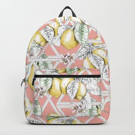 If Life Gives You Lemons, Make Lemonade (Blush) Backpack