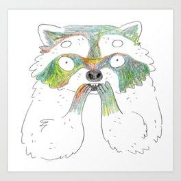 Raccoon!! Art Print