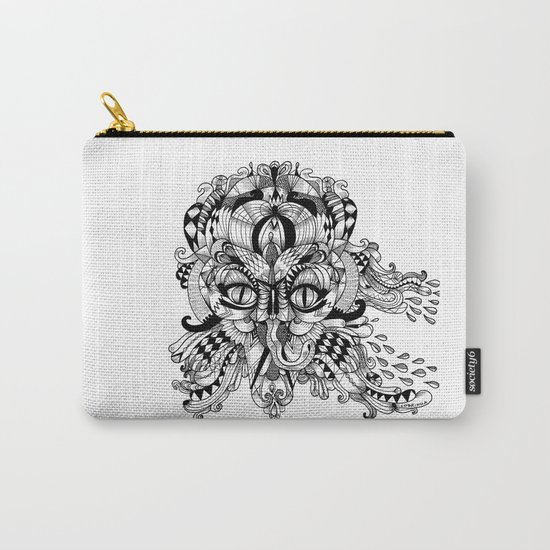 Mask Face Carry-All Pouch