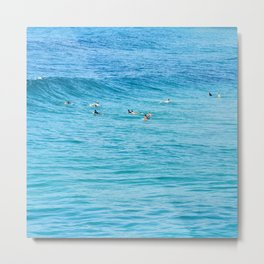 Ten Men One Wave Metal Print