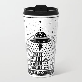 destroy us! Metal Travel Mug