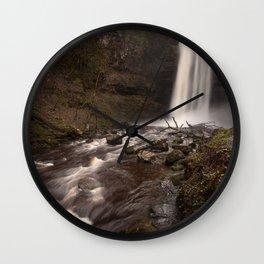 Henrhyd Falls South Wales AKA The Batcave Wall Clock