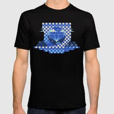 Chaos Emerald Black Mens Fitted Tee MEDIUM