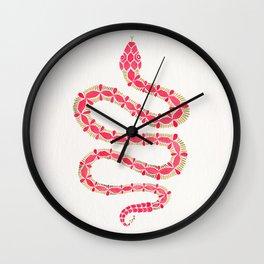 Pink & Gold Serpent Wall Clock