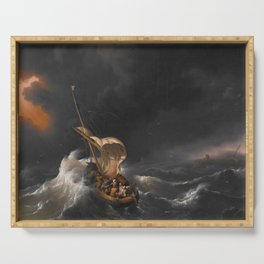 Christ in the Storm on the Sea of Galilee Serving Tray
