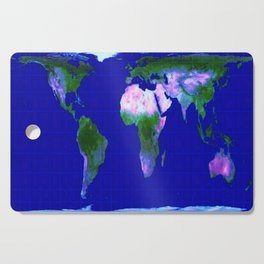 World Map : Gall Peters Cutting Board