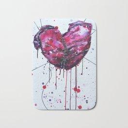 Fused Hearts Bath Mat