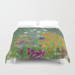 Gustav Klimt Flower Garden Floral Art Nouveau Duvet Cover