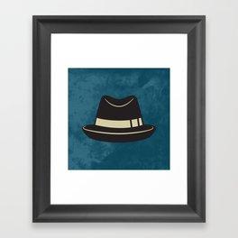 Hat Print , hipster Framed Art Print