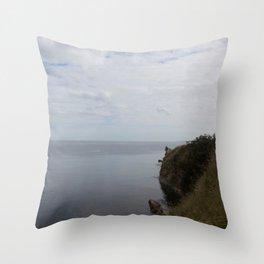 Sea views St. Andrews Throw Pillow