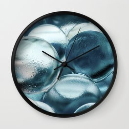 Blue Water Marbles Wall Clock