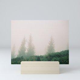 Fir-trees in the Mist Mini Art Print