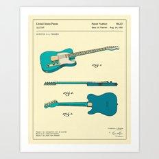 Guitar (1951) Art Print