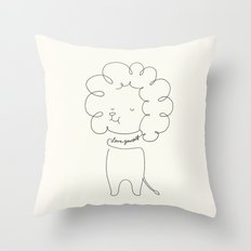 Love Yourself Lion Throw Pillow