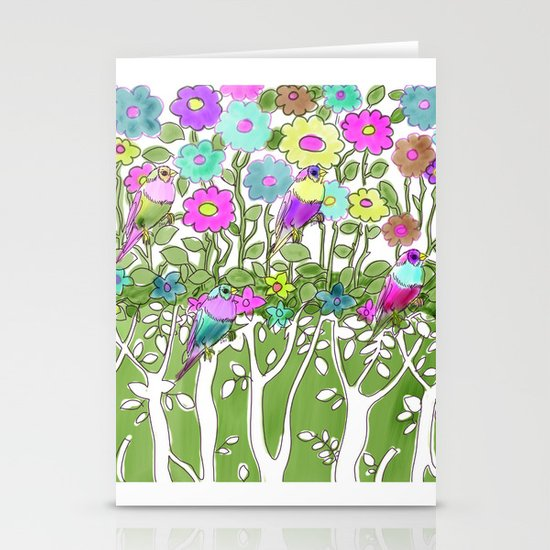 Birds among the trees #1 Stationery Cards