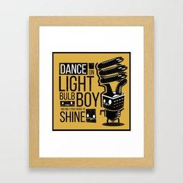 Bulb Boy Framed Art Print
