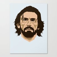 pirlo Canvas Prints featuring Pirlo by The World Cup Draw
