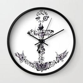 Larry's Tattoos Anchor Wall Clock