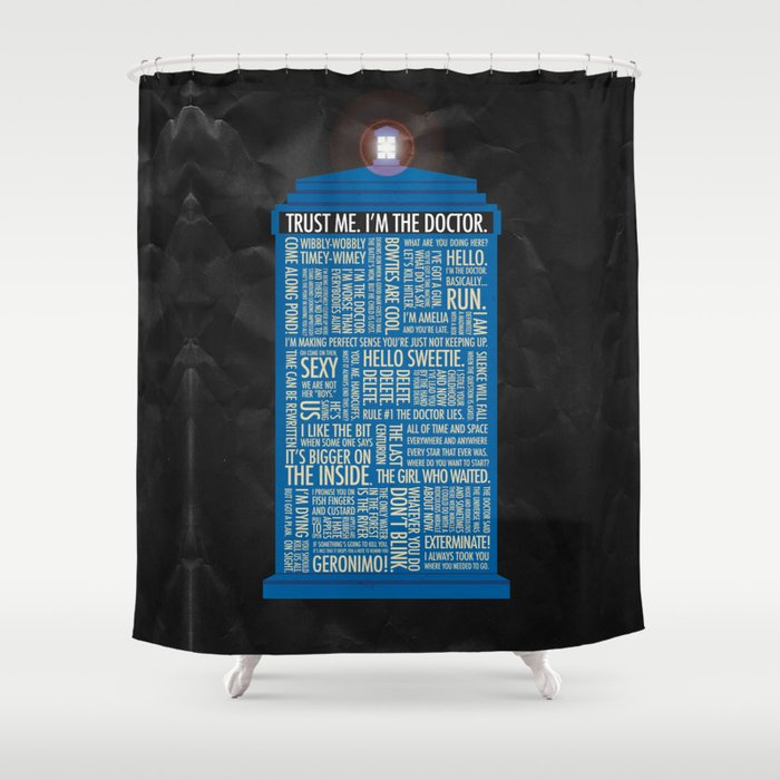 Doctor Who Shower Curtain By Lukeeckstein Society6