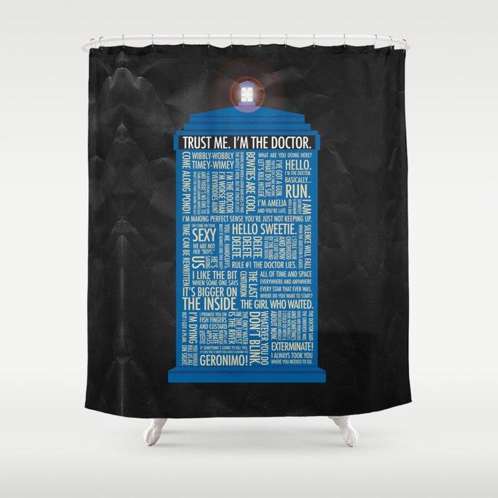 Doctor Who Shower Curtain By Lukeeckstein