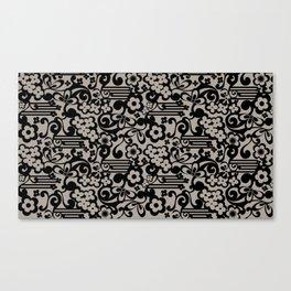 Negative Flower Canvas Print