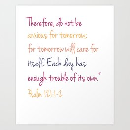 Psalm 121 Art Print