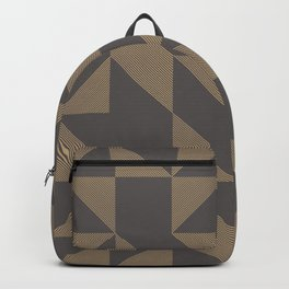 Golden triangles on grey Backpack