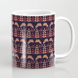 Boho leaves branch vector all over print. Coffee Mug