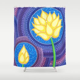 Dreamy Lotus Family Shower Curtain