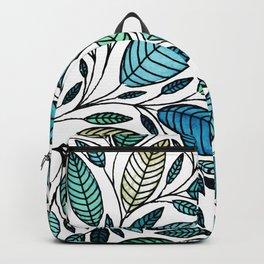 Leaf Illustration - Blue Green - P07 010 Backpack