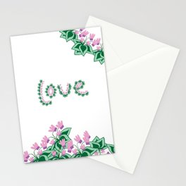 Cyclamen love Stationery Cards