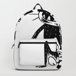 creepy cat and mouse  Backpack