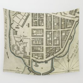 Vintage Map of Lower Manhattan (1764) Wall Tapestry