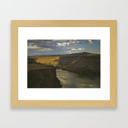 Central Canyon Framed Art Print