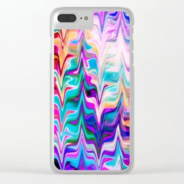 Abstract colorful marble swirls pattern Clear iPhone Case