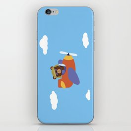 Bear in Airplane iPhone Skin