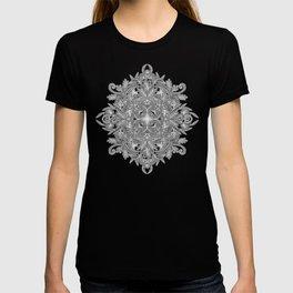 Vintage Winter Monochrome Doodle T-shirt