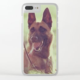 Malinios Beauty dog picture Clear iPhone Case