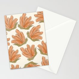 Bloom coral Stationery Cards