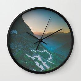 Logan Pass Summer Wall Clock