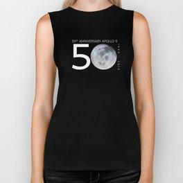 Apollo 11 50 Years Anniversary Moon Landing Biker Tank