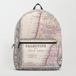 Old 1864 Historic State of Palestine Map Backpack