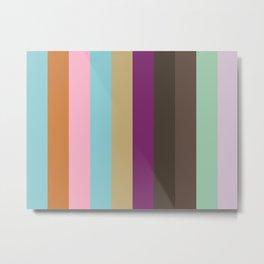 CONCEPTUAL : Cyan Ochre Nadeshiko Pink Cyan Ecru Purple Taupe Umber Aquamarine Lavender Metal Print