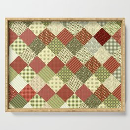CRAZY QUILT Serving Tray