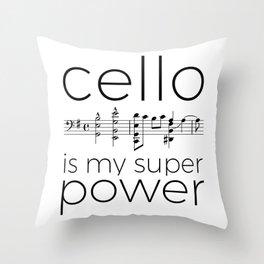 Is cello your super power? (white) Throw Pillow