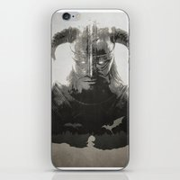 skyrim iPhone & iPod Skins featuring Dragonborn - Skyrim by Edward J. Moran II