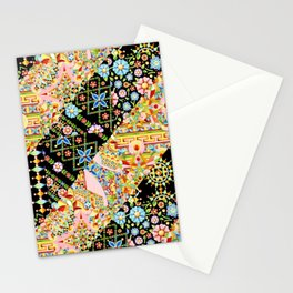 Crazy Patchwork Triangles Stationery Cards