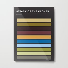 The colors of StarWars - Attack of the clones episode 2 Metal Print