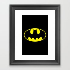 The Bat Man Framed Art Print